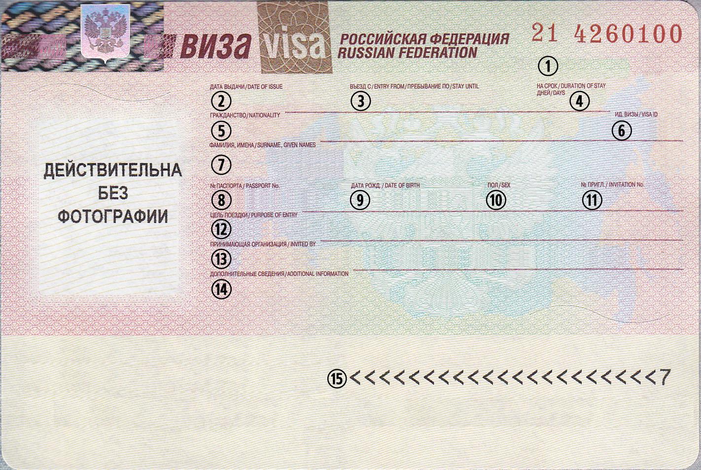 russisk Visa